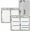 "At-A-Glance Botanique Desk Weekly/Monthly Planner - Julian - Weekly, Monthly - 1 Year - January 2017 till December 2017 - 8:00 AM to 5:00 PM - 1 Month, 1 Week Double Page Layout - 5"" x 8"" - Wire Bound"