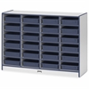 """Rainbow Accents Paper-Tray Storage - 24 Compartment(s) - 35.5"""" Height x 48"""" Width x 15"""" Depth - Navy - Rubber - 1Each"""