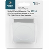 """Business Source Magnetic Paper Clip - 2.3"""" Length - 1 Pack - Chrome - Metal, Nickel Plated"""