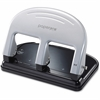 "PaperPro inPRESS 40 Three-Hole Punch - 3 Punch Head(s) - 40 Sheet Capacity - 9/32"" Punch Size - 3.3"" x 6.4"" - Black, Silver"