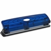 """Business Source Translucent Manual Hole Punch - 3 Punch Head(s) - 8 Sheet Capacity - 1/4"""" Punch Size - Blue"""
