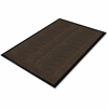 "Genuine Joe Dual Rib Carpet Floor Mat - Hard Floor - 72"" Length x 48"" Width - Polypropylene, Vinyl - Chocolate"