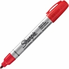Sharpie Pro Permanent Marker - Bullet Point Style - Red - Metal Barrel - 1 Each