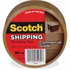 "Scotch Commercial Grade Packaging Tape - 1.88"" Width x 54.60 yd Length - 3"" Core - Polypropylene - Heavy Duty - 6 / Pack - Tan"