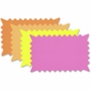 "COSCO Fluorescent Colors Custom Paper Signs - 1 Each - 6.4"" Width x 10.1"" Height - Rectangular Shape - Sturdy, Durable - Paper - Fluorescent Orange, Fluorescent Pink, Fluorescent Yellow, Fluorescent L"