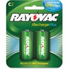 Rayovac PL714-2 Alkaline C Battery - 3000 mAh - C - Nickel Metal Hydride (NiMH) - 2 / Pack