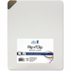Flip N' Clip Presentation / Report Cover - 25 Sheet Capacity - Clip Fastener - Poly - Frosted Clear - 6 / Pack