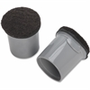 Lorell Replacement Chair Tips with Felt - Gray - 16 / Bag