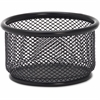 "Lorell Mesh Paper Clip Holder - 3.8"" x 2.1"" - Steel - 1 Each - Black"