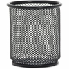 "Lorell Black Mesh/Wire Pencil Cup Holder - 3.5"" x 3.9"" - Steel - 1 Each - Black"