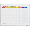 "Lorell Dry-Erase Magnetic Planner Board - 24"" (2 ft) Width x 18"" (1.5 ft) Height - Aluminum Steel Surface - Aluminum Melamine Frame - Rectangle - 1 Each"
