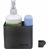 Quartet Prestige 2 Connects Spray Cleaner Caddy w/ Bottle & Cloth - Plastic - 1 Each - Black