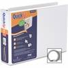 "Stride Landscape Spreadsheet QuickFit Binder - 2"" Binder Capacity - Letter - 8 1/2"" x 11"" Sheet Size - Round Ring Fastener - 2 Internal Pocket(s) - Polypropylene, Board - White - Recycled - 1 Each"