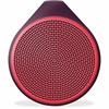 Logitech X100 Speaker System - Battery Rechargeable - Wireless Speaker(s) - Red - 30 ft - Bluetooth - USB
