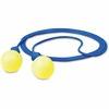 E-A-R Push-Ins Corded Earplugs - Noise Protection - Foam, Polyurethane, Vinyl Cord - Blue, Yellow - 200 / Box