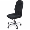"Balt Olympus Big & Tall Chair - Fabric Black Seat - Fabric Black Back - 5-star Base - 22"" Seat Width x 21.50"" Seat Depth - 23"" Width x 23"" Depth x 50"" Height"