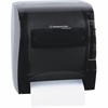 "Kimberly-Clark Professional Lev-R-Matic Roll Towel Dispenser - Roll Dispenser - 10.5"" Height x 15"" Width x 12"" Depth - Plastic - Smoke - Translucent, Durable, Lockable"