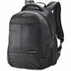 "Samsonite Classic Carrying Case (Backpack) for 15.6"" Notebook, Accessories, iPad, Bottle, Cable, File, Books, Clothing - Black - Shock Resistant Interior - Ballistic Fabric - Checkpoint Friendly - Han"