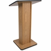 "AmpliVox Elite Lectern - Rectangle Top - 21"" Table Top Width x 15"" Table Top Depth - 45"" Height - Assembly Required - Laminated, Mahogany, Melamine"