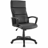 "Lorell Euro Design Lthr Executive High-back Chair - Bonded Leather Black Seat - Bonded Leather Black Back - 5-star Base - Black - 20"" Seat Width x 18.25"" Seat Depth - 27.3"" Width x 28.3"" Depth x 47.5"""