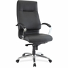 "Lorell Modern Exec. High-back Leather Chair - Leather Seat - Leather Black Back - 5-star Base - 20.50"" Seat Width x 19"" Seat Depth - 27.3"" Width x 28.8"" Depth x 48.5"" Height"