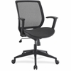 "Lorell Mesh/Mesh Executive Mid-back Chair - Nylon Black Seat - Nylon Black Back - 5-star Base - Black - 19.50"" Seat Width x 17.50"" Seat Depth - 27.5"" Width x 26.3"" Depth x 39.8"" Height"