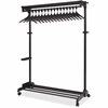 Alba Mobile Garment Rack - Black - Steel - 1Each