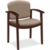 "HON 2111 Single Rail Arm Mahogany Guest Chair - Morel Seat - Morel Back - Hardwood Frame - Four-legged Base - 20"" Seat Width x 17.50"" Seat Depth - 23.5"" Width x 18.5"" Depth x 33.1"" Height"