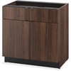 "HON Walnut Hospitality Cabinet - 36"" x 24"" x 36"" - 2 x Drawer(s) - 2 x Door(s) - Ball-bearing Suspension, Scratch Resistant, Spill Resistant, Stain Resistant, Durable - Walnut - Laminate - Steel - Rec"
