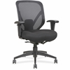 "Lorell Self-tilt Mid-back Chair - Fabric Seat - Fabric Back - 5-star Base - Black - 19.13"" Seat Width x 17.13"" Seat Depth - 28.1"" Width x 22.9"" Depth x 41.8"" Height"
