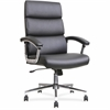 "Lorell Leather High-back Chair - Bonded Leather Black Seat - Black Back - Leather - 19.13"" Seat Width x 18.88"" Seat Depth"