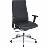 "Leather Suspension Chair - Bonded Leather Black Seat - Bonded Leather Black Back - 5-star Base - 20.50"" Seat Width x 18"" Seat Depth - 26"" Width x 26"" Depth x 45"" Height"