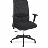 Lorell Weight Activated Mesh Back Suspension Chair - Fabric Black Seat - Black Back - 5-star Base - Black