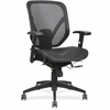 "Lorell Mesh Seat/Back Mid-back Chair - Black Seat - Black Back - Plastic Frame - 5-star Base - Black - 20.50"" Seat Width x 18.13"" Seat Depth - 27"" Width x 25.6"" Depth x 42.5"" Height"