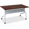 "Lorell Mahogany Flip Top Training Table - Rectangle Top - Four Leg Base - 4 Legs - 23.60"" Table Top Width x 60"" Table Top Depth - 29.50"" Height x 59"" Width x 23.63"" Depth - Mahogany - Nylon"