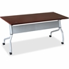 "Lorell Mahogany Flip Top Training Table - Rectangle Top - Four Leg Base - 4 Legs - 23.60"" Table Top Width x 72"" Table Top Depth - 29.50"" Height x 70.88"" Width x 23.63"" Depth - Mahogany - Nylon"