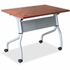 "Lorell Cherry Flip Top Training Table - Rectangle Top - Four Leg Base - 4 Legs - 23.60"" Table Top Width x 48"" Table Top Depth - 29.50"" Height x 47.25"" Width x 23.63"" Depth - Cherry - Nylon"