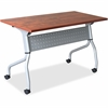 "Lorell Cherry Flip Top Training Table - Rectangle Top - Four Leg Base - 4 Legs - 23.60"" Table Top Width x 60"" Table Top Depth - 29.50"" Height x 59"" Width x 23.63"" Depth - Cherry - Nylon"