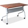 "Lorell Cherry Flip Top Training Table - Rectangle Top - Four Leg Base - 4 Legs - 23.60"" Table Top Width x 60"" Table Top Depth - 29.50"" Height x 59"" Width x 23.63"" Depth - Cherry - Nylon"