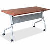 "Cherry Flip Top Training Table - Rectangle Top - Four Leg Base - 4 Legs - 23.60"" Table Top Width x 72"" Table Top Depth - 29.50"" Height x 70.88"" Width x 23.63"" Depth - Cherry - Nylon"