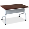 "Lorell Mahogany Flip Top Training Table - Rectangle Top - Four Leg Base - 4 Legs - 23.60"" Table Top Width x 48"" Table Top Depth - 29.50"" Height x 47.25"" Width x 23.63"" Depth - Mahogany - Nylon"