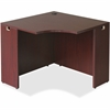 "Lorell Essentials Series Mahogany Corner Desk - Rectangle Top - 35.38"" Table Top Width x 35.38"" Table Top Depth x 1"" Table Top Thickness - 29.50"" Height - Assembly Required - Mahogany"