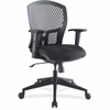 "Lorell Plastic Back Flex Chair - Black Seat - Plastic Black Back - 5-star Base - 26.5"" Width x 26.8"" Depth x 41.3"" Height"