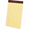 "Ampad Gold Fibre Premium Jr. Legal Writing Pads - 50 Sheets - Watermark - Stapled/Glued - 16 lb Basis Weight - 5"" x 8"" - Canary Paper - 1Dozen"