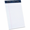 "TOPS Gold Fibre Med. Ruled Prem. Jr. Legal Pads - 50 Sheets - Watermark - Stapled/Glued - 16 lb Basis Weight - 5"" x 8"" - White Paper - 1Dozen"