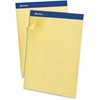 "Ampad Basic Slot-perforated Pads - 50 Sheets - Printed - Stapled - 20 lb Basis Weight 8.50"" x 11.75"" - Yellow Paper - Canary Cover - 1Dozen"