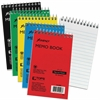 "Ampad Topbound Memo Book - 50 Sheets - Printed - Wire Bound 3"" x 5"" - White Paper - Assorted Cover - Pressboard Cover - 1Each"