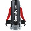 "Sanitaire Backpack Vacuum - 2.50 gal - 14"" Cleaning Width - 50 ft Cable Length - 60"" Hose Length - HEPA - 11.50 A - 63 dB(A) Noise - Black"