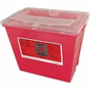 "Impact Products 2 Gallon Sharps Container - 2 gal Capacity - Rectangular - 10"" Height x 9"" Width - Red, Translucent"