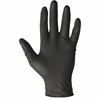 ProGuard Disposable Nitrile Gen.Purp Gloves - Medium Size - Nitrile - Black - Disposable, Powder-free, Beaded Cuff, Ambidextrous - For Cleaning, Material Handling, General Purpose, Chemical - 100 / Bo
